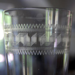 Antique Glass Tumblers Etched Glasses Set Of 6 Water Glasses