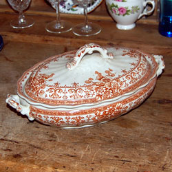 Losol Ware Oxford Brown Pattern Tureen From 1890 S