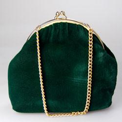 Vintage Green Velvet Evening Bag Vintage Evening Bags
