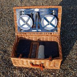 Vintage Harrods Picnic Hamper Basket Set by Optima