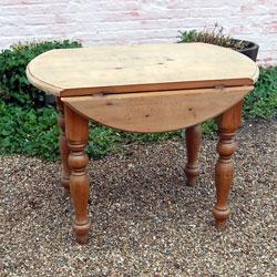 Attrayant Folding Round Farmhouse Pine Kitchen Table Ref 3397
