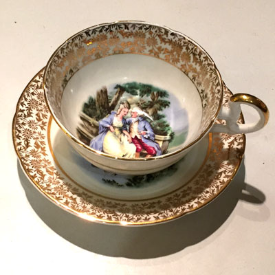 Imperial Fine Bone China Vintage Teacup And Saucer