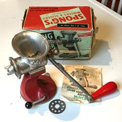 SPONG mincer 601 | Spong meat grinder 601 | Vintage meat grinder