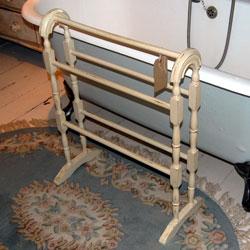 wood towel stand. Shabby Chic Arched Beech Wood Freestanding 5 Rail Towel In Farrow \u0026  Ball Elephants Breath Wood Towel Stand